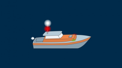 A vessel engaged on pilotage duty underway - lights