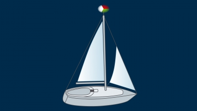 A sailing vessel under 20 m underway - lights