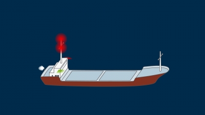 A vessel not under command when making way through the water - lights