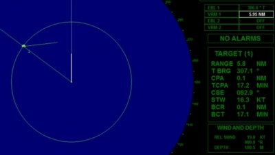 Action taken by a vessel which detects by radar alone the presence of another vessel