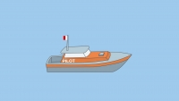 A vessel engaged on pilotage duty underway - signs